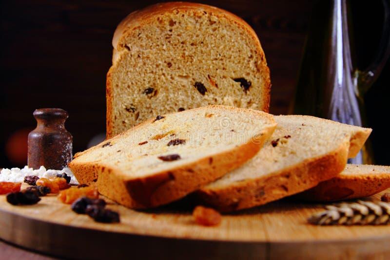自创白色甜面包 库存照片