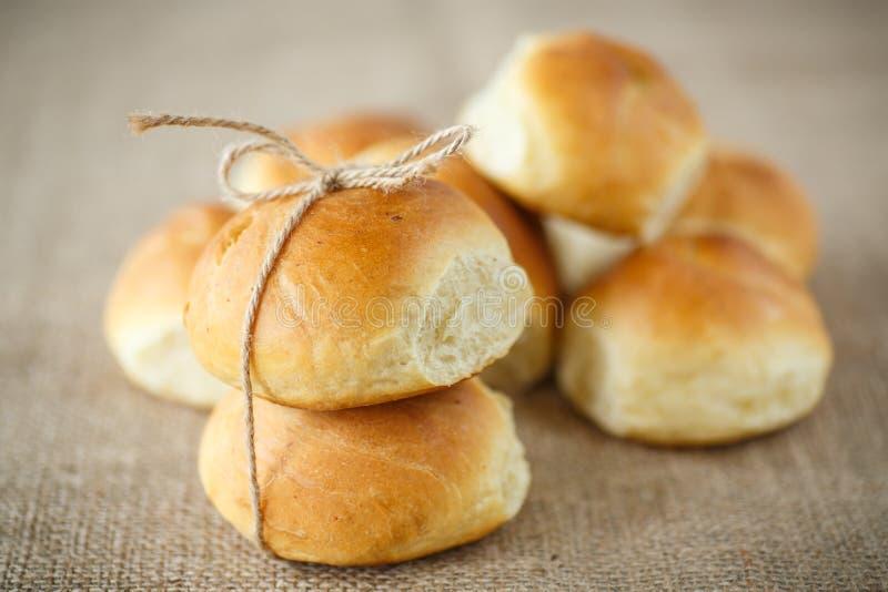 自创的小圆面包 免版税图库摄影