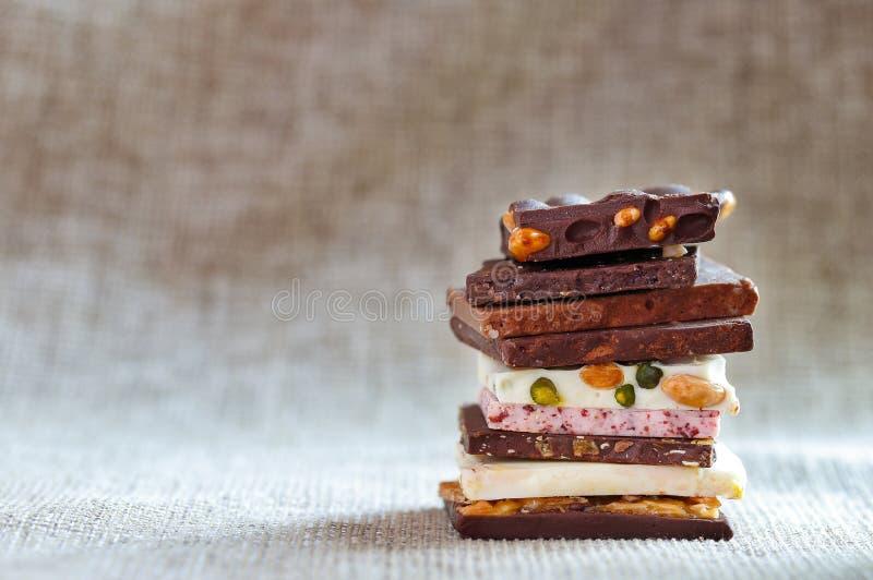 自创的巧克力 库存照片