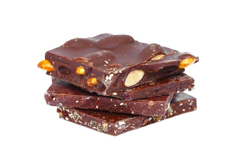 自创的巧克力 免版税库存图片