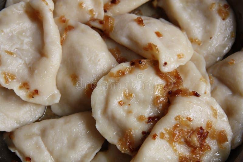 自创的饺子 库存图片