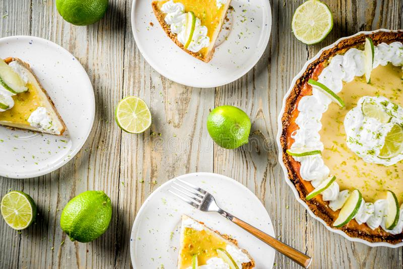 自创礁莱檬饼 免版税库存图片