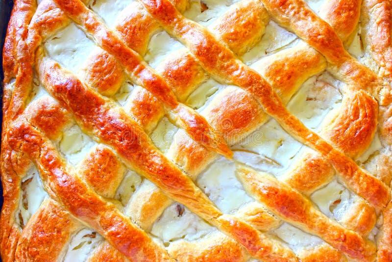 自创苹果饼,传统俄国蛋糕用苹果 库存照片