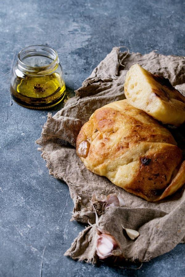 自创蒜味面包 免版税库存图片