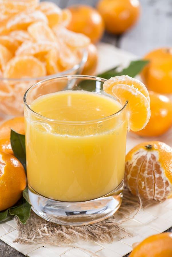 自创蜜桔汁 库存照片