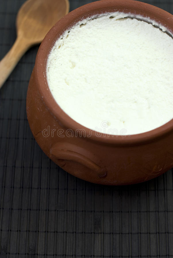 自创酸奶 免版税库存图片