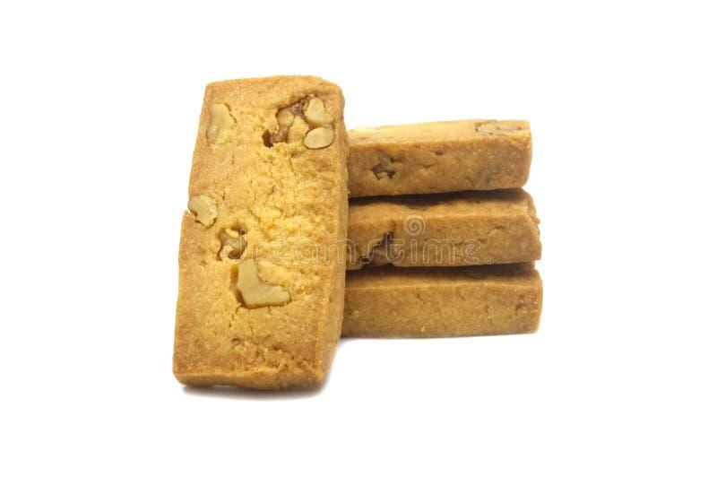 自创饼干唯一的薄脆饼干,正方形和重设计 免版税图库摄影