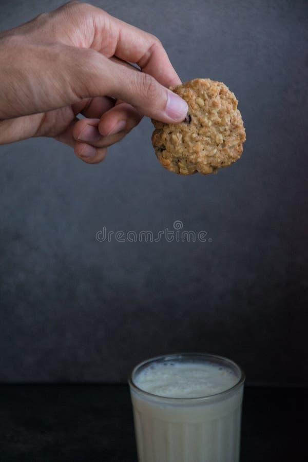 自创麦甜饼用巧克力 库存图片