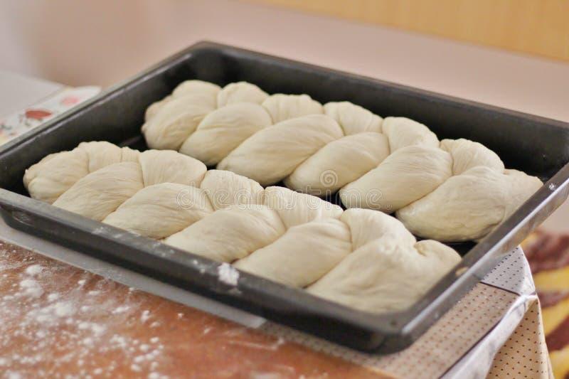 自创结辨的面包 图库摄影