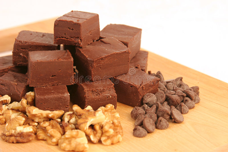 自创1个的巧克力软糖 免版税库存图片