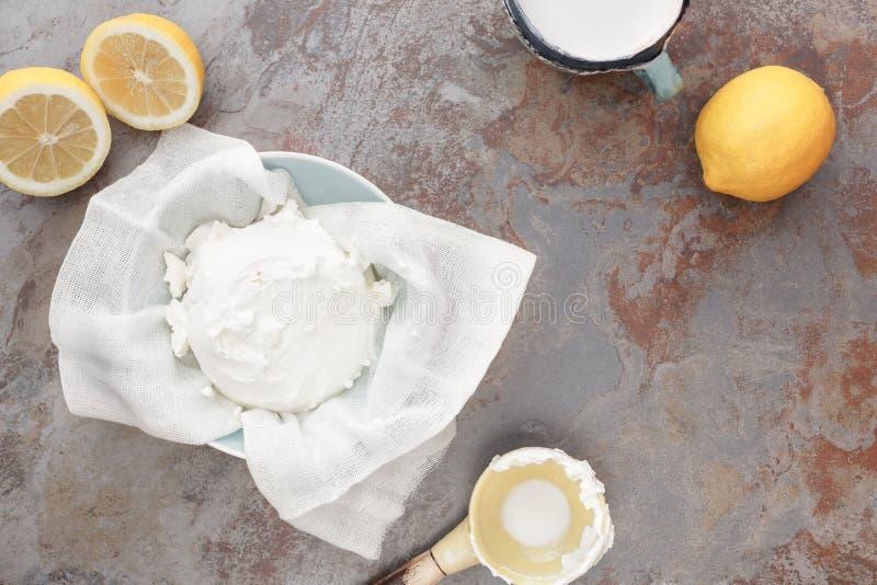 自创mascarpone乳酪 免版税库存照片