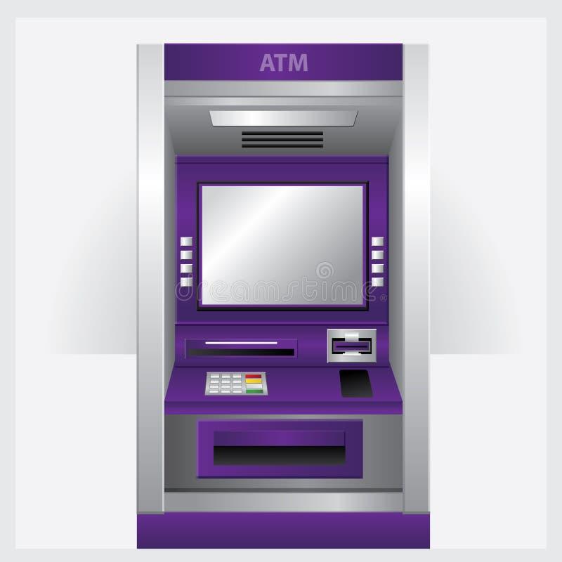 自动出纳机银行业务 向量例证