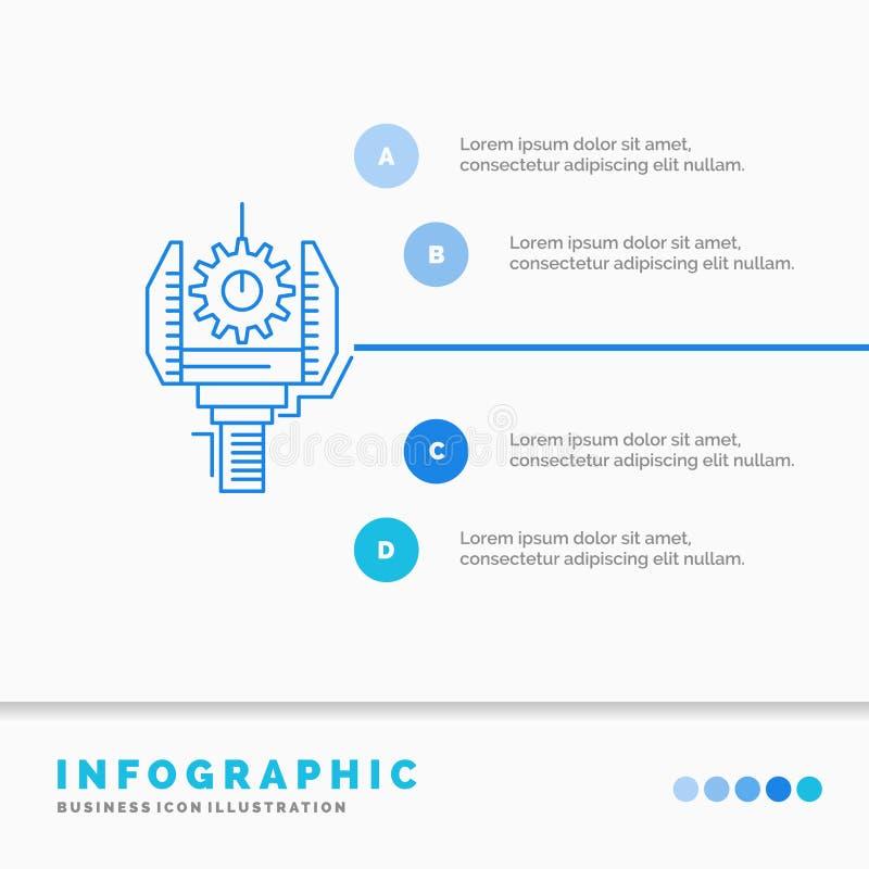 自动化、产业、机器、生产、机器人学Infographics模板网站的和介绍 r 向量例证