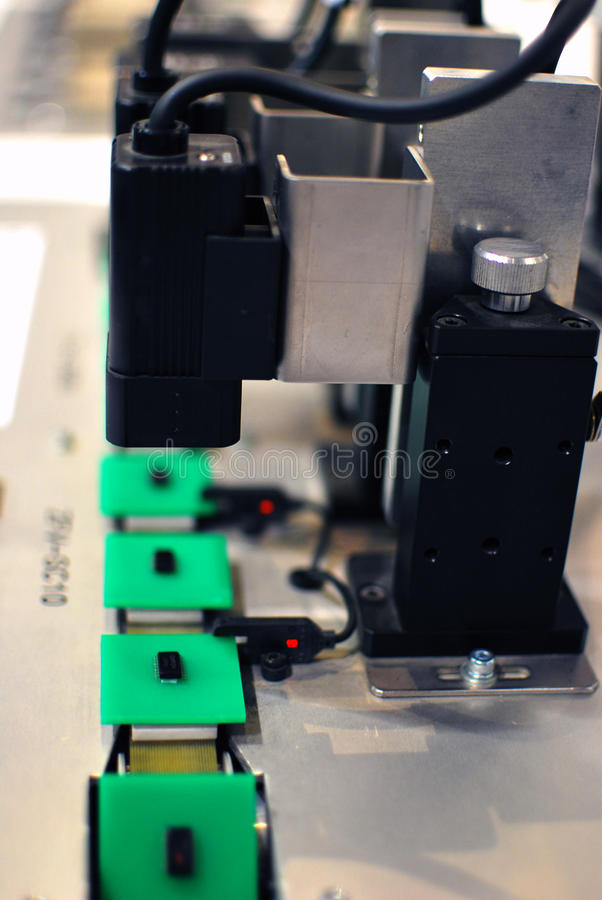 自动化工厂传感器 库存照片