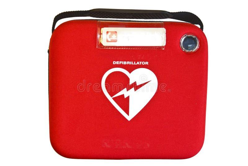自动化的外部去纤颤器或AED 免版税库存图片