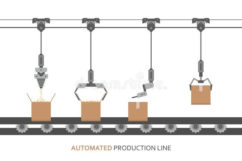 自动化的生产线 向量例证