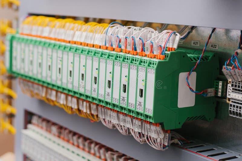 自动化的程序控制的系统,电源,控制器 高精密度的设备用于电力工业 免版税图库摄影
