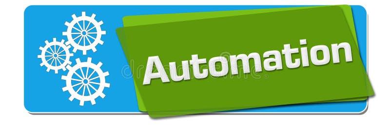 自动化青绿的被转动的正方形 库存例证