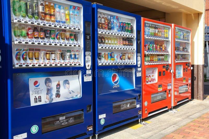 自动售货机在日本 免版税库存图片