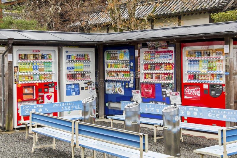 自动售货机在日本 库存图片