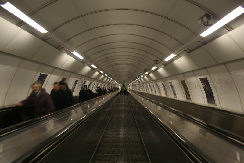 自动扶梯布拉格 免版税图库摄影