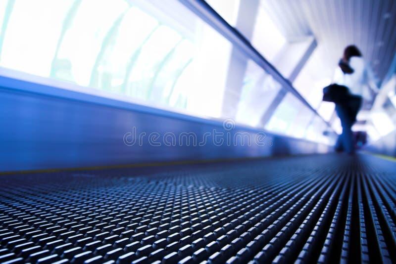 自动扶梯现代移动办公室 免版税图库摄影