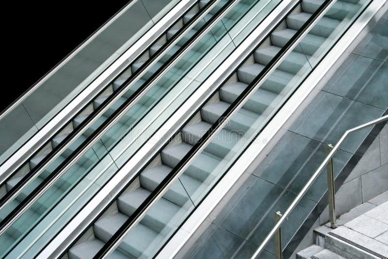 自动扶梯端 图库摄影
