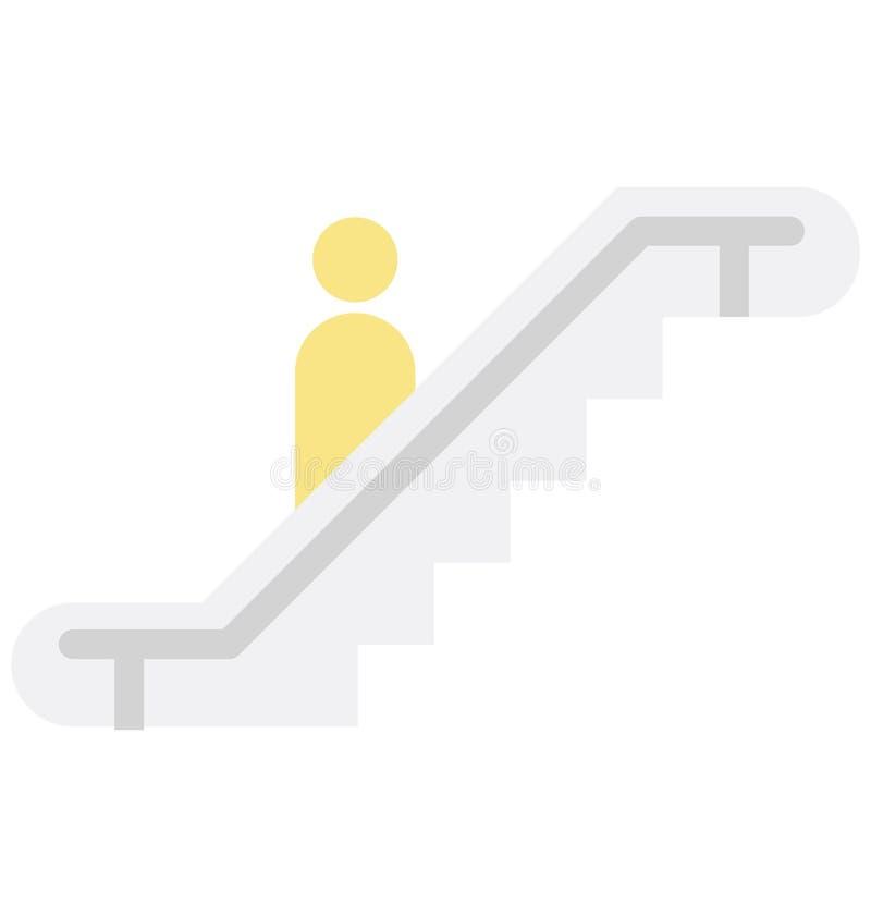 自动扶梯颜色可能容易地修改或编辑的传染媒介象 向量例证