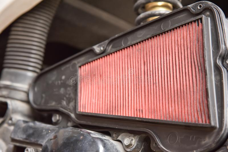 自动摩托车空气过滤器  库存照片