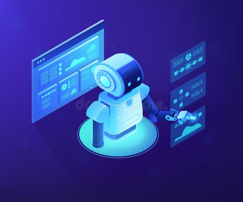 自动数据分析概念传染媒介等量例证 皇族释放例证