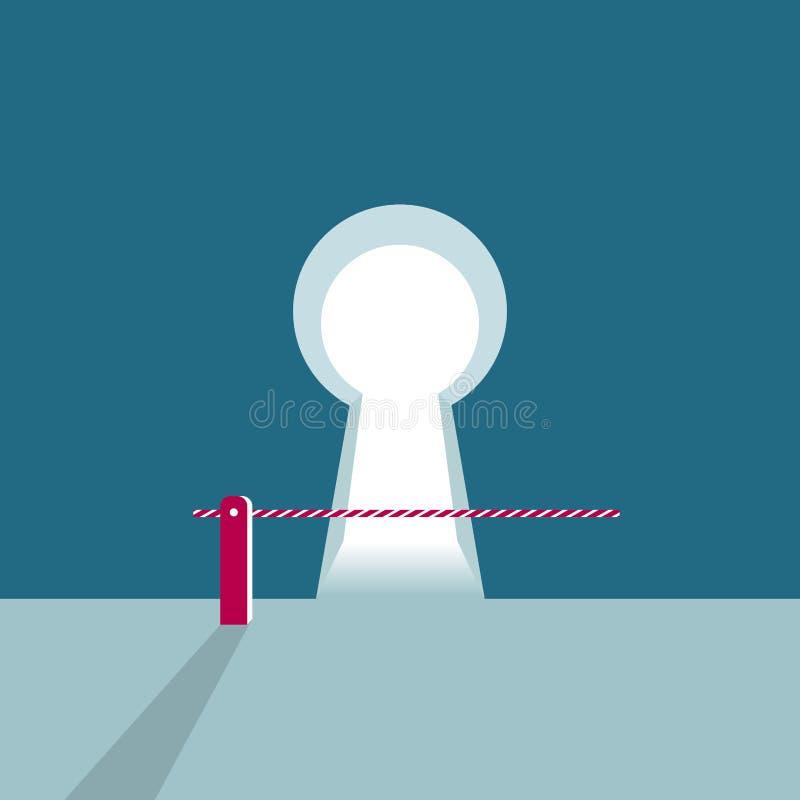 自动景气障碍门集合股票 向量例证