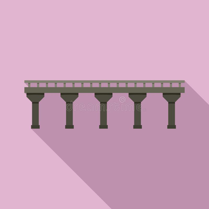自动桥梁象,平的样式 皇族释放例证
