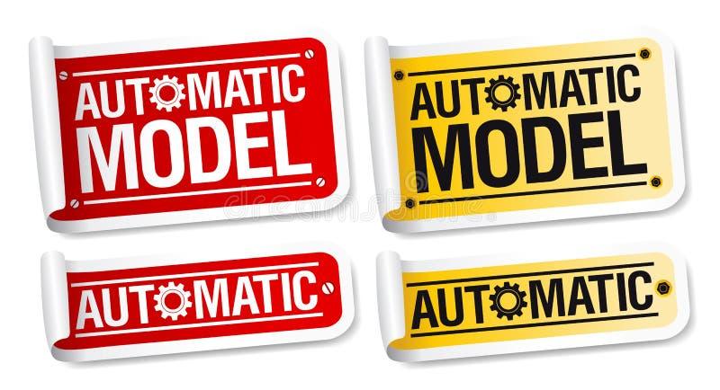 自动模型贴纸 库存例证