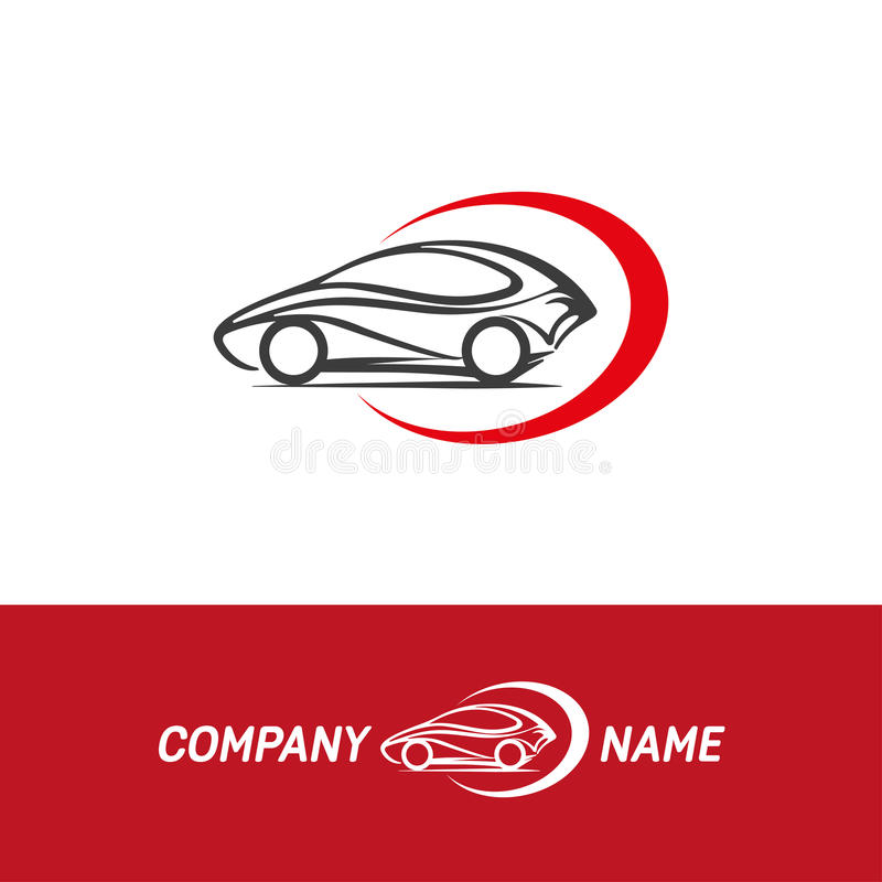 自动汽车摘要商标 皇族释放例证