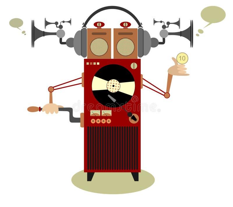自动电唱机 向量例证