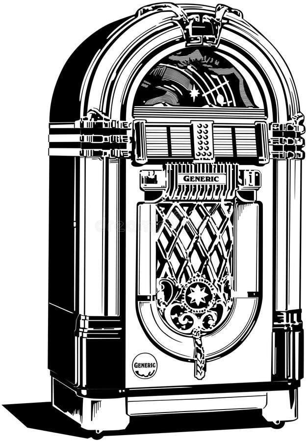 自动电唱机1 向量例证