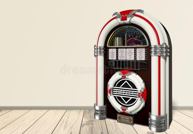 自动电唱机 库存例证