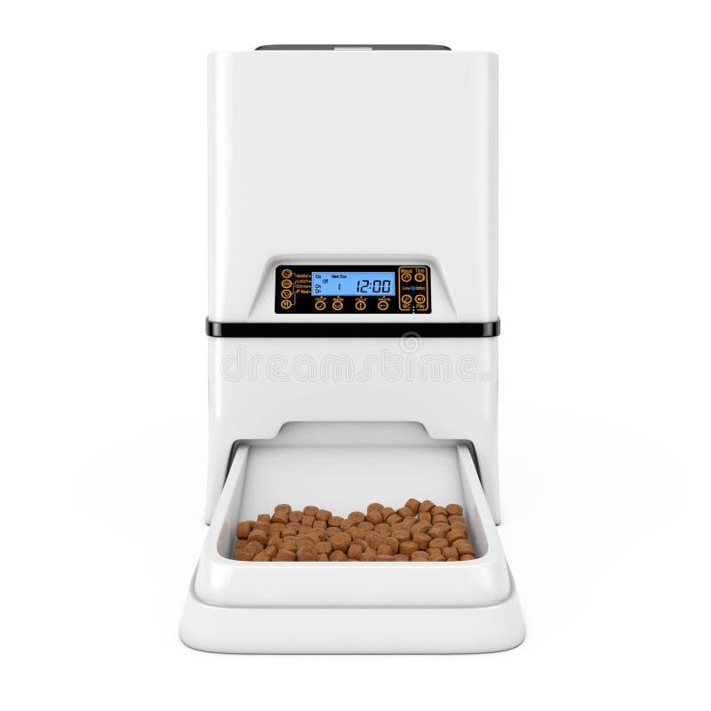 自动电子数字宠物干燥食物存贮膳食饲养者二 皇族释放例证