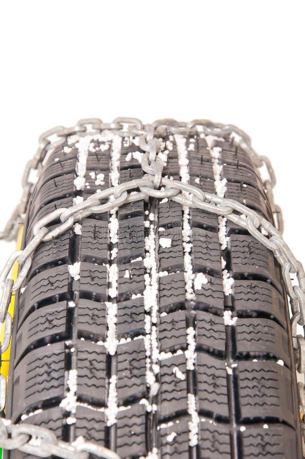 自动链子轮胎 库存图片