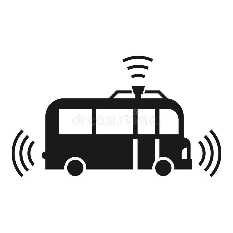 自动驾驶仪公共汽车象,简单的样式 向量例证