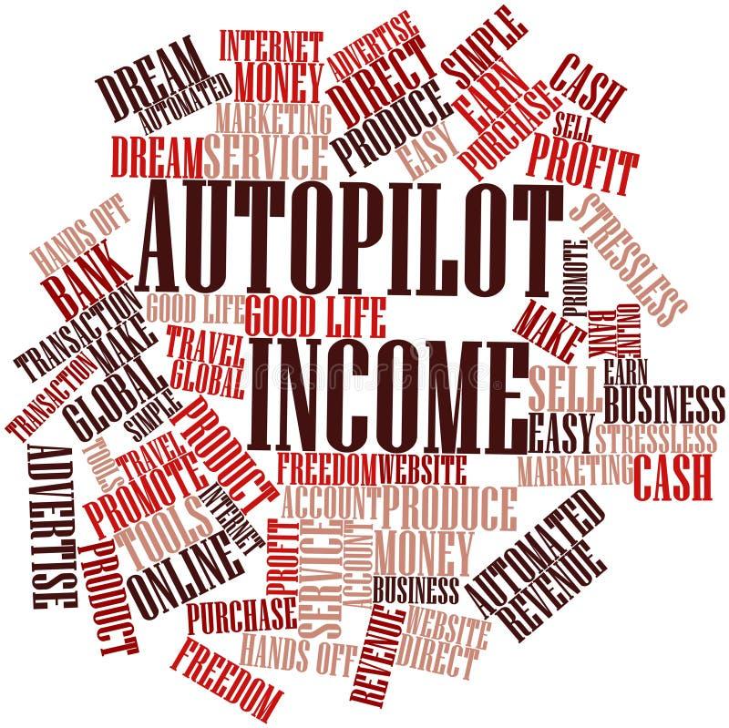自动驾驶仪收入的字云彩 库存例证