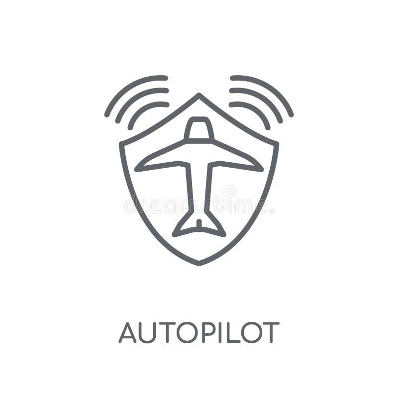 自动驾驶仪线性象 现代概述自动驾驶仪商标概念 向量例证