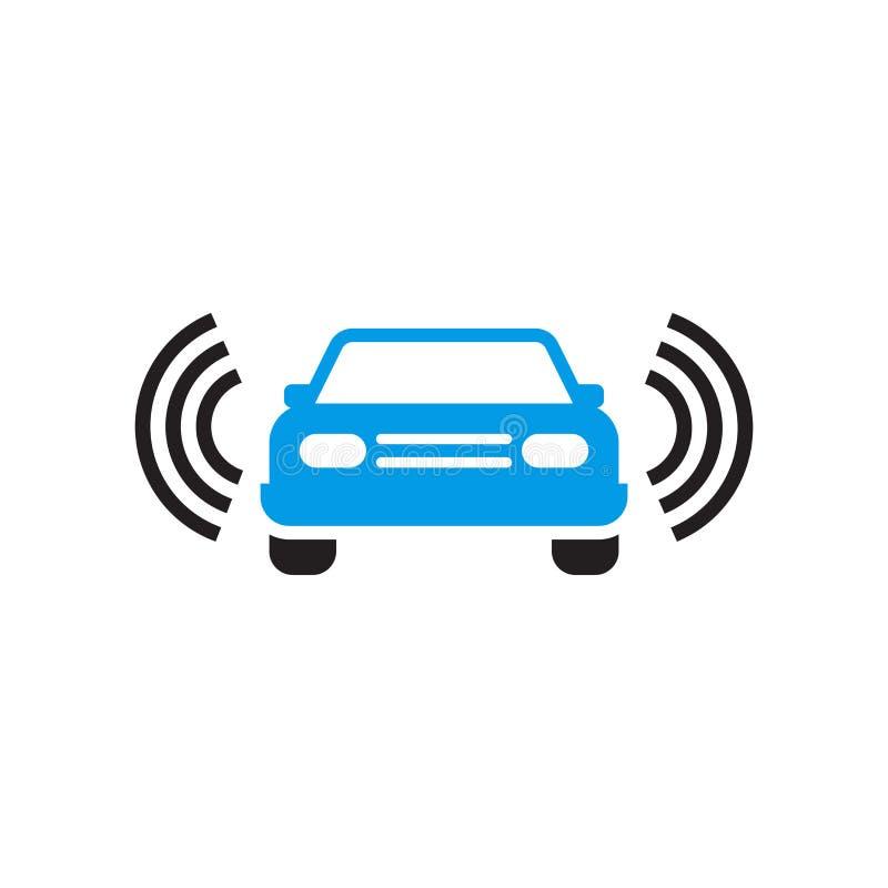 自动驾驶仪象在白色背景和标志隔绝的传染媒介标志,自动驾驶仪商标概念 向量例证