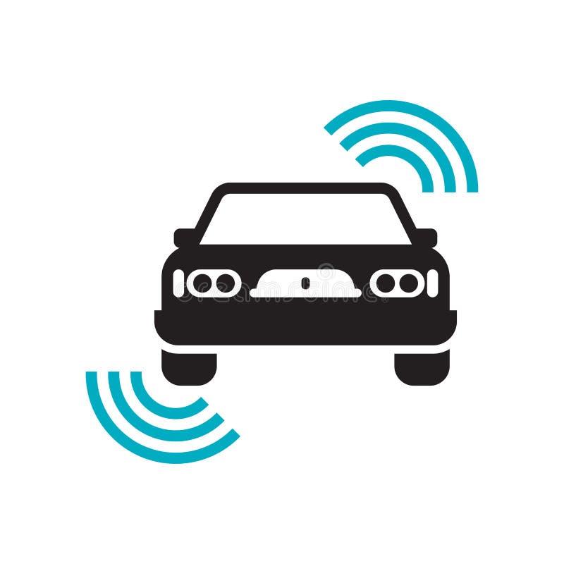 自动驾驶仪象在白色背景和标志隔绝的传染媒介标志,自动驾驶仪商标概念 库存例证