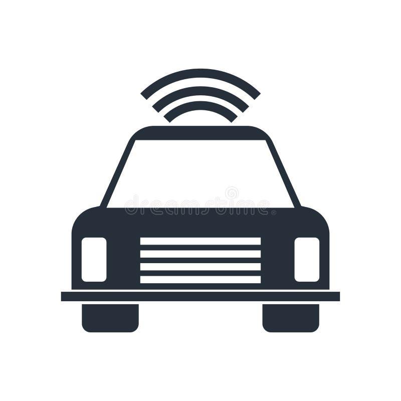 自动驾驶仪象在白色背景和标志隔绝的传染媒介标志,自动驾驶仪商标概念 皇族释放例证