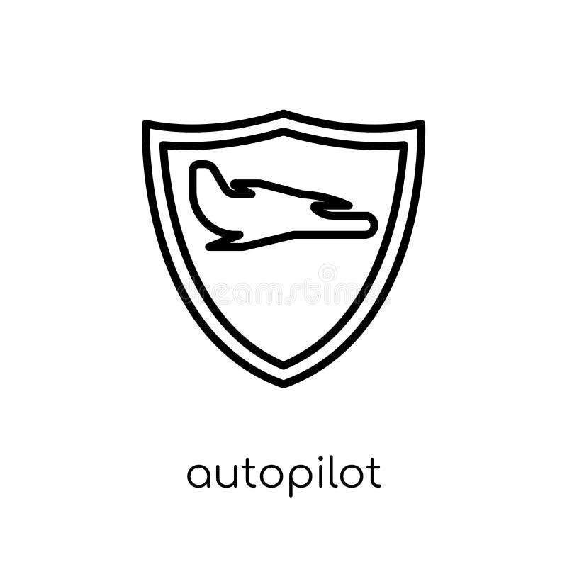 自动驾驶仪象 时髦现代平的线性传染媒介自动驾驶仪象 向量例证