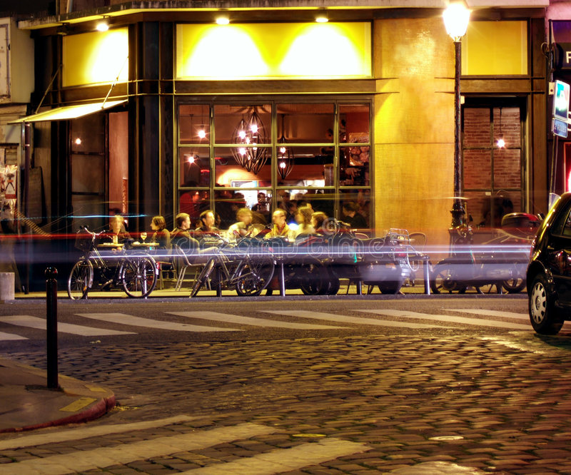 自助餐厅晚上 免版税库存照片