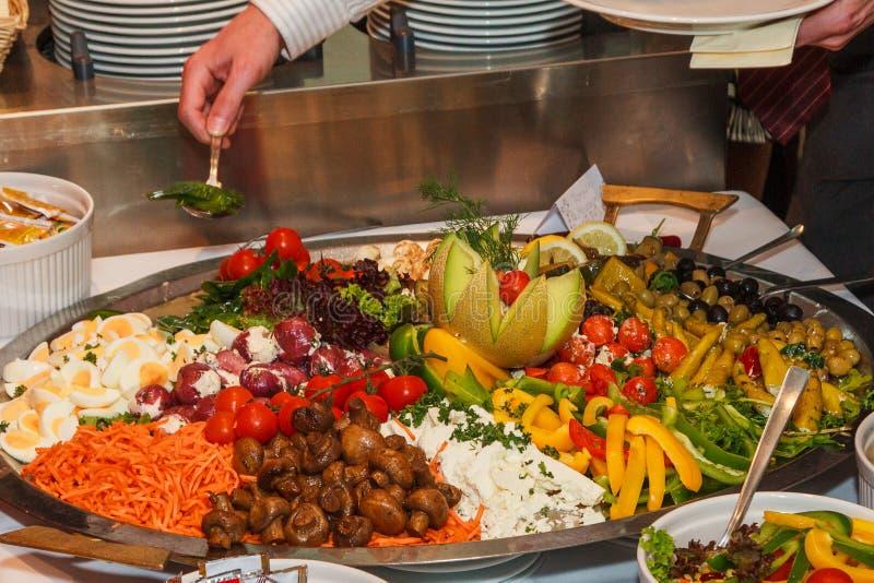 自助餐蔬菜 库存照片