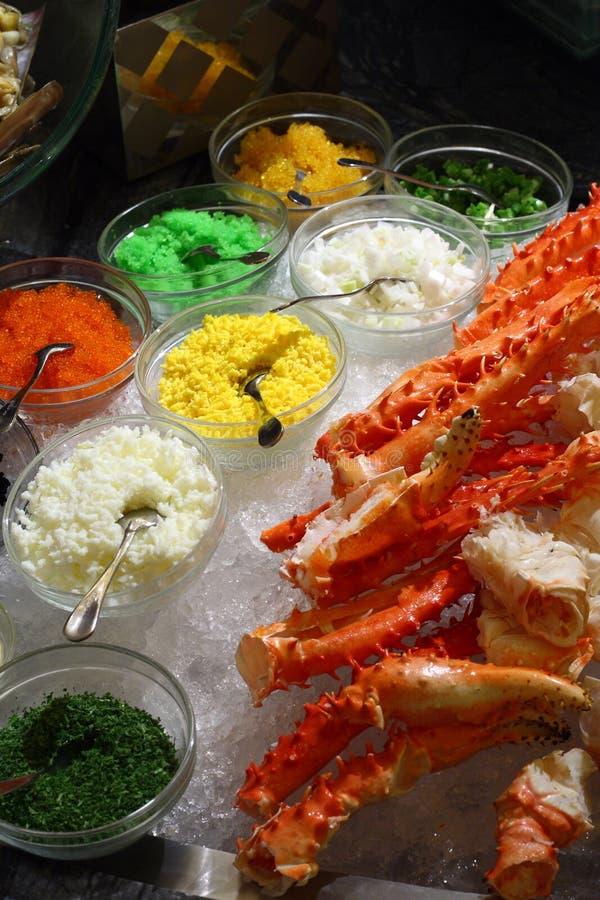 自助餐螃蟹国王行程 库存图片