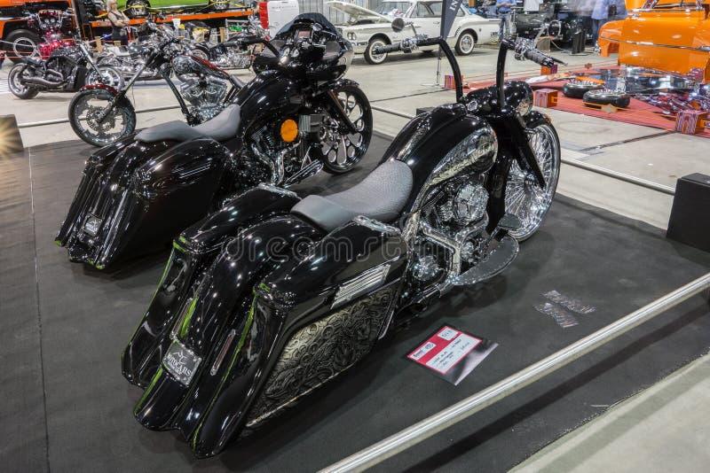 自定义摩托车 库存图片